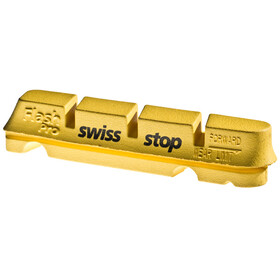 SwissStop FlashPro Brake Linings for Shimano/SRAM Carbon yellow